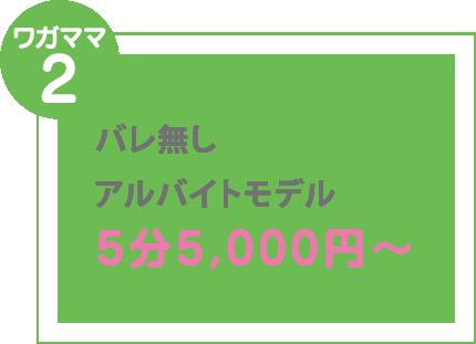 ワガママ2 バレ無しアルバイトモデル 5分5,000円〜