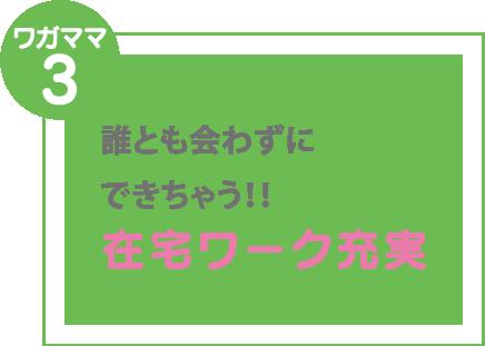 ワガママ3 在宅ワーク充実 誰とも会わずに できちゃう!!